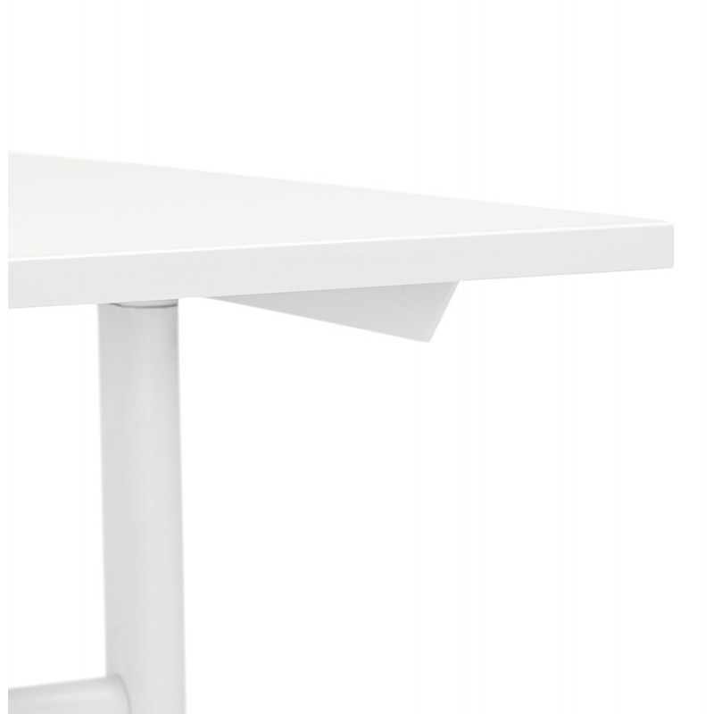 SONA white-footed wooden right desk (160x80 cm) (white) - image 49504