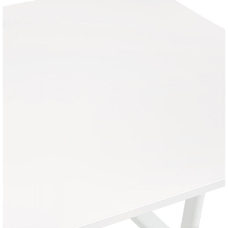 Bureau droit en bois pieds blanc SONA (160x80 cm) (blanc) - image 49505