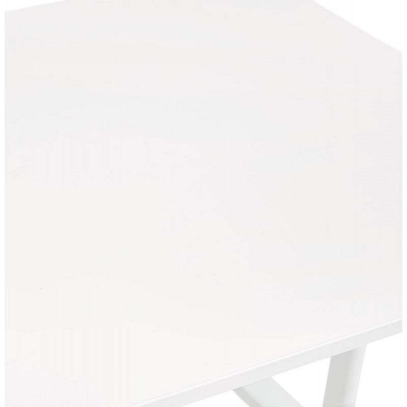 Escritorio derecho de madera con patas blancas SONA (160x80 cm) (blanco) - image 49505