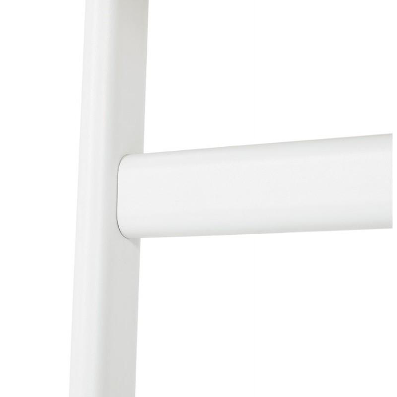 Bureau droit en bois pieds blanc SONA (160x80 cm) (noir) - image 49516