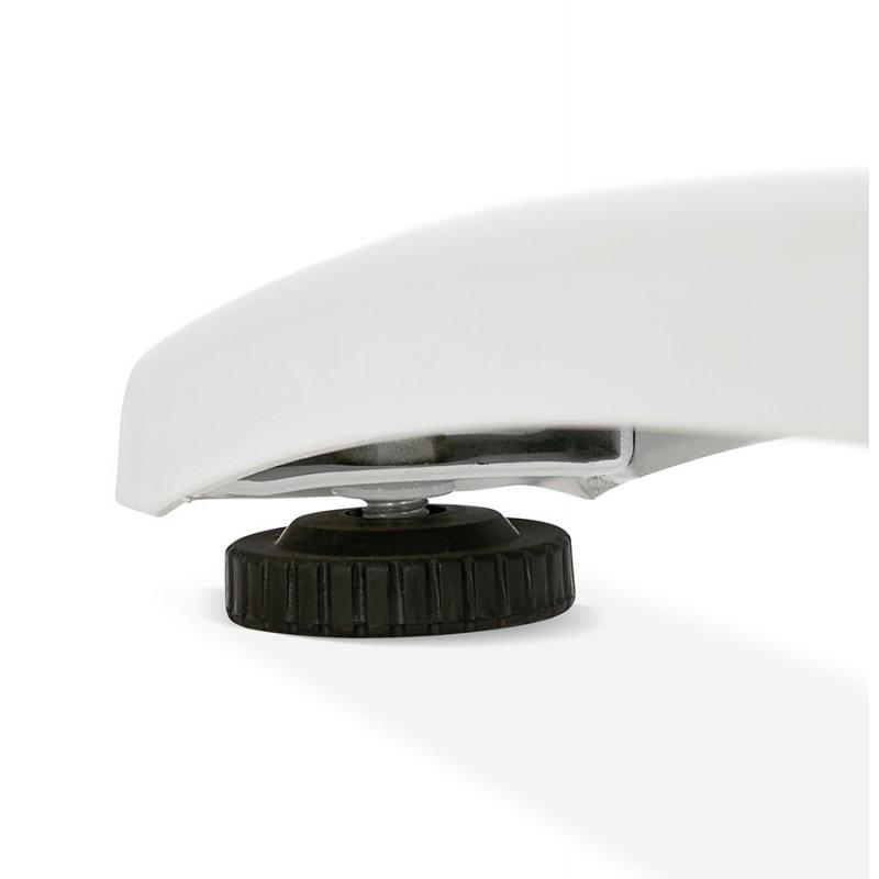 Bureau droit en bois pieds blanc SONA (160x80 cm) (noir) - image 49519
