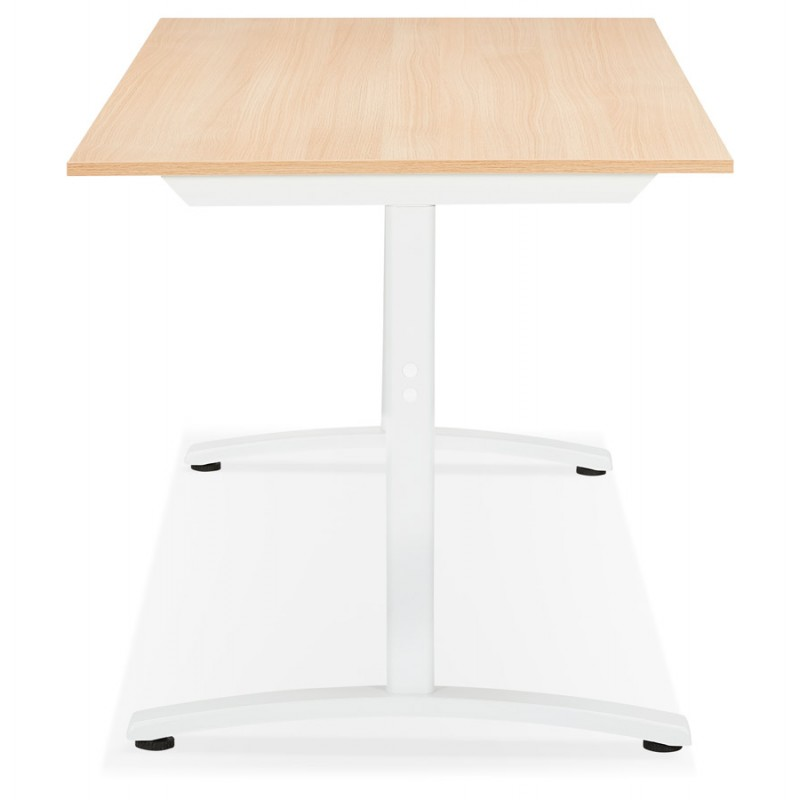SONA white-footed wooden right desk (160x80 cm) (natural finish) - image 49522