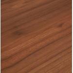 Bureau droit en bois pieds blanc SONA (160x80 cm) (finition noyer)