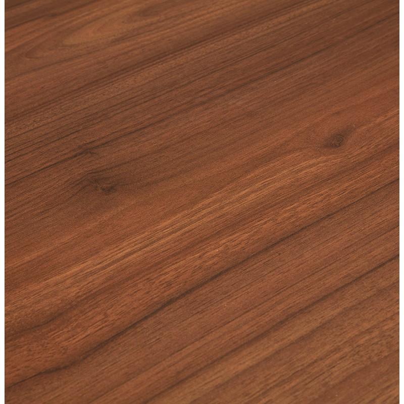 Bureau droit en bois pieds blanc SONA (160x80 cm) (finition noyer) - image 49535