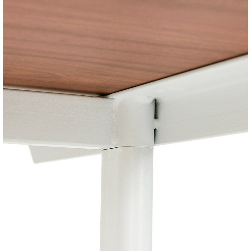 SONA white-footed wooden right desk (160x80 cm) (walnut finish) - image 49536