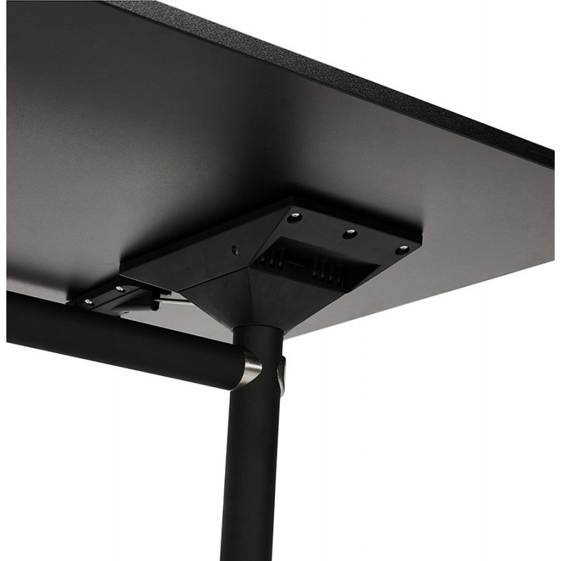 Falttisch auf Rädern aus Schwarzem Stollen SAYA (140x70 cm) (schwarz) - image 49561