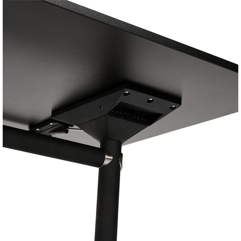 Table pliante sur roulettes en bois pieds noirs SAYA (140x70 cm) (noir) - image 49561