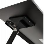 Table pliante sur roulettes en bois pieds noirs SAYA (140x70 cm) (noir)