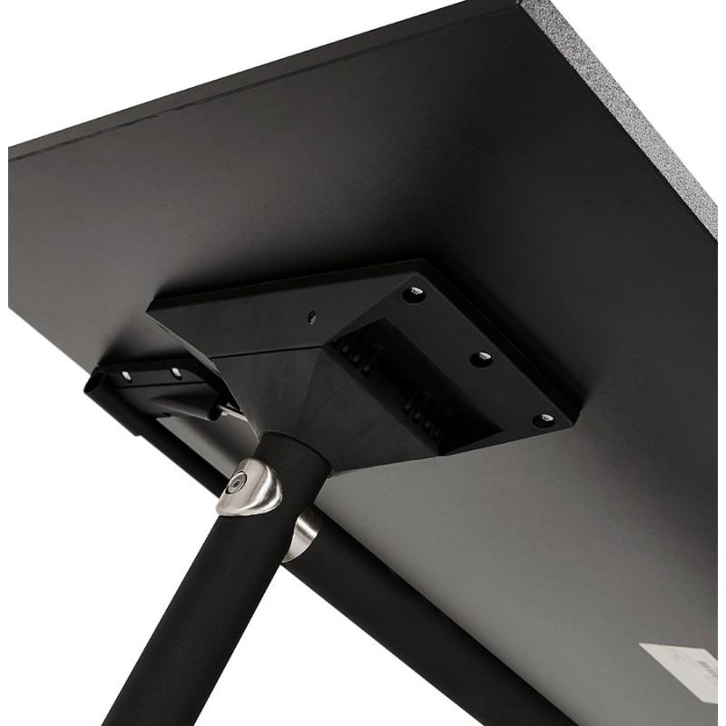 Table pliante sur roulettes en bois pieds noirs SAYA (140x70 cm) (noir) - image 49562