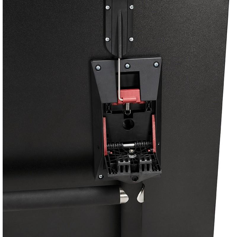 Table pliante sur roulettes en bois pieds noirs SAYA (140x70 cm) (noir) - image 49563