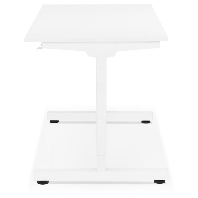 Bureau assis debout en bois pieds blanc cassé NAOMIE (140x70 cm) (blanc) - image 49596