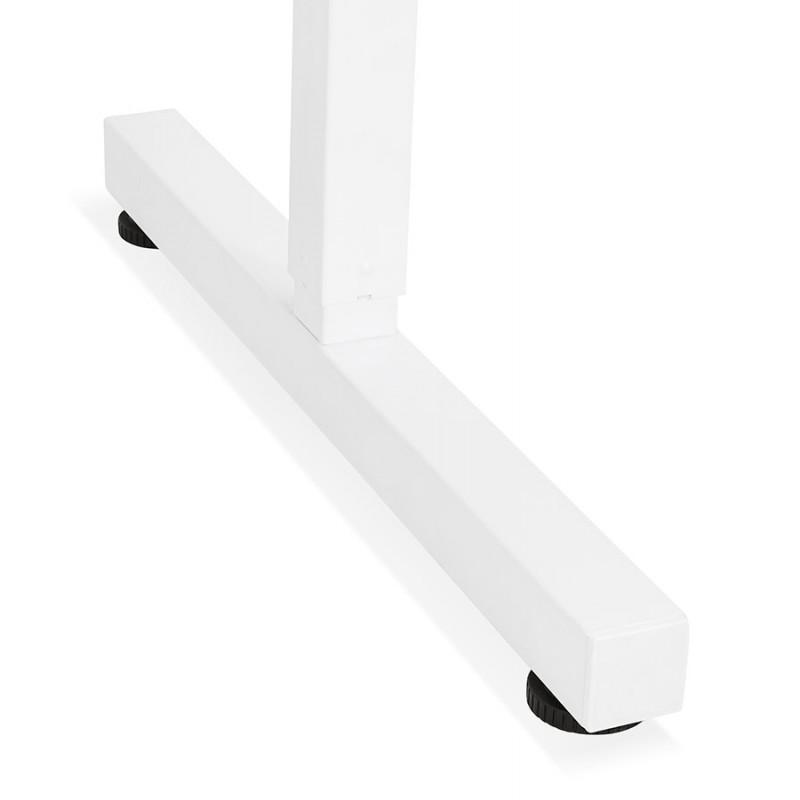 Bureau assis debout en bois pieds blanc cassé NAOMIE (140x70 cm) (blanc) - image 49601