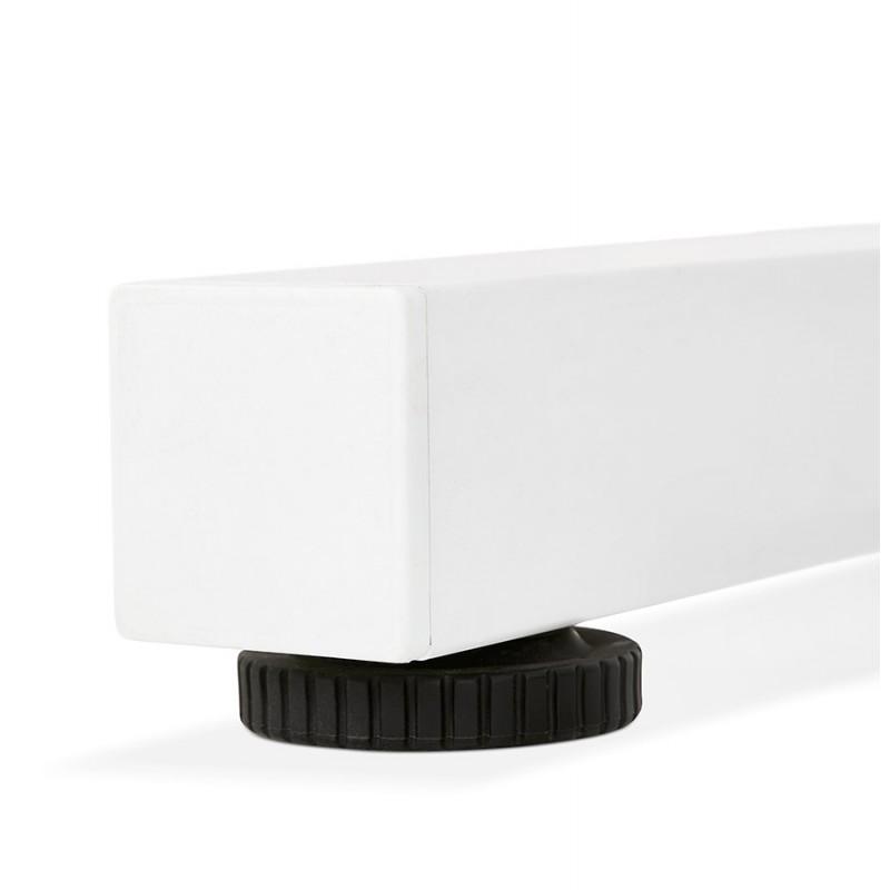 Bureau assis debout en bois pieds blanc cassé NAOMIE (140x70 cm) (blanc) - image 49602
