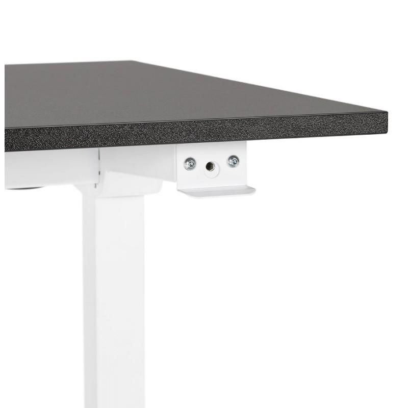 Bureau assis debout en bois pieds blanc cassé NAOMIE (140x70 cm) (noir) - image 49609