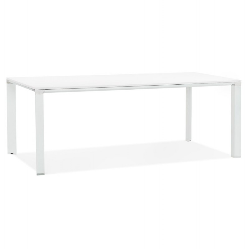 Tavolo da pranzo noRA in legno (200x100 cm) (bianco)