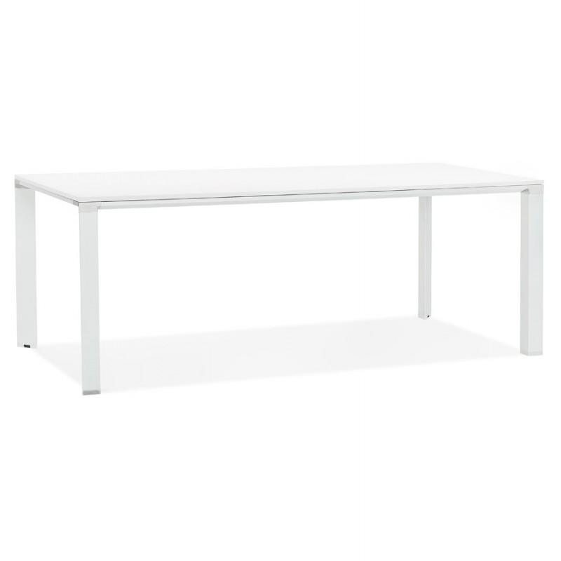 Esstisch Design Holz Tisch NORA (200x100 cm) (weiß)