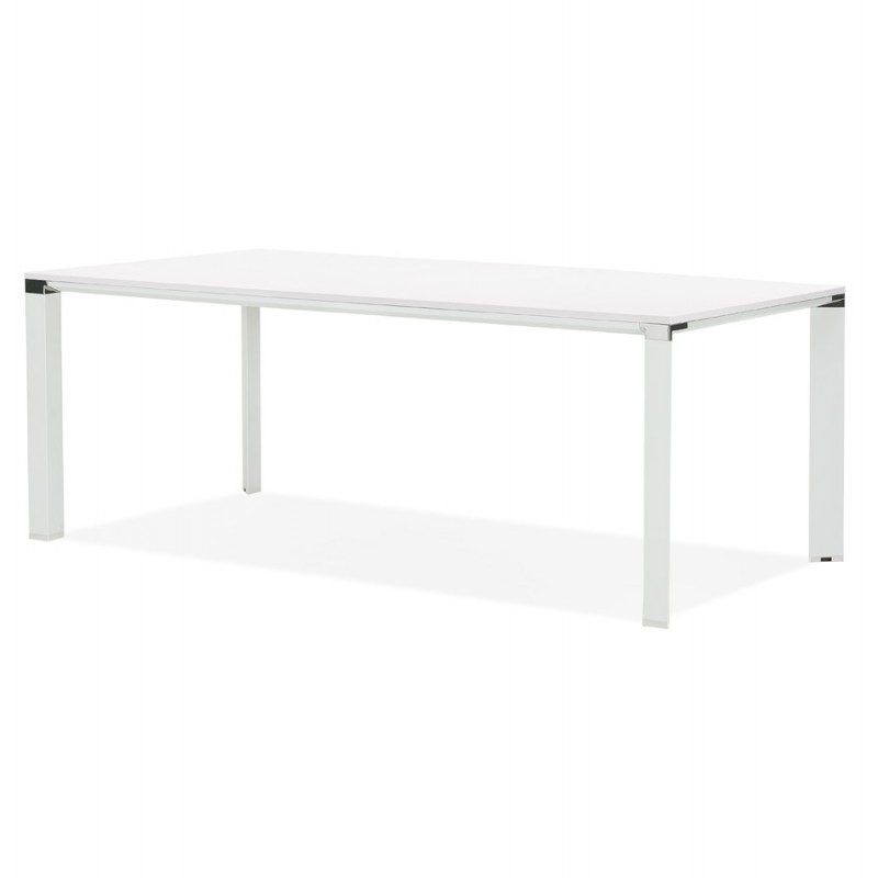 NORA wooden design meeting table (200x100 cm) (white) - image 49628