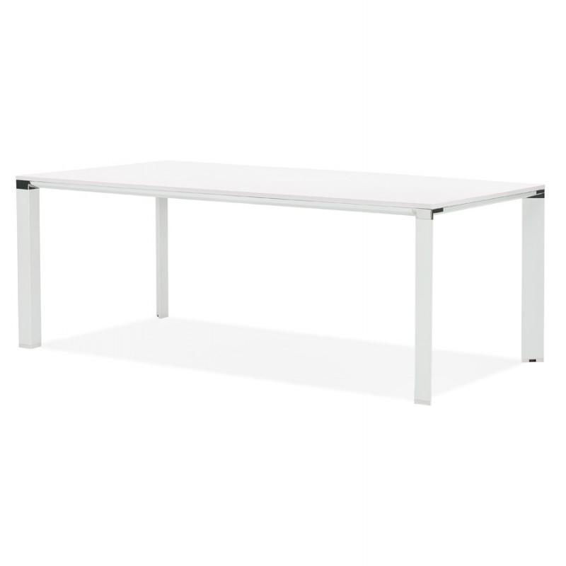 Tavolo da pranzo noRA in legno (200x100 cm) (bianco) - image 49628