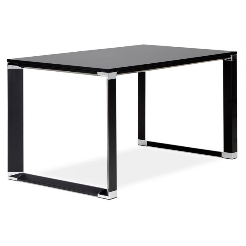 Holz-Design Schreibtisch aus holz schwarze Füße BOUNY (140x70 cm) (schwarz) - image 49648