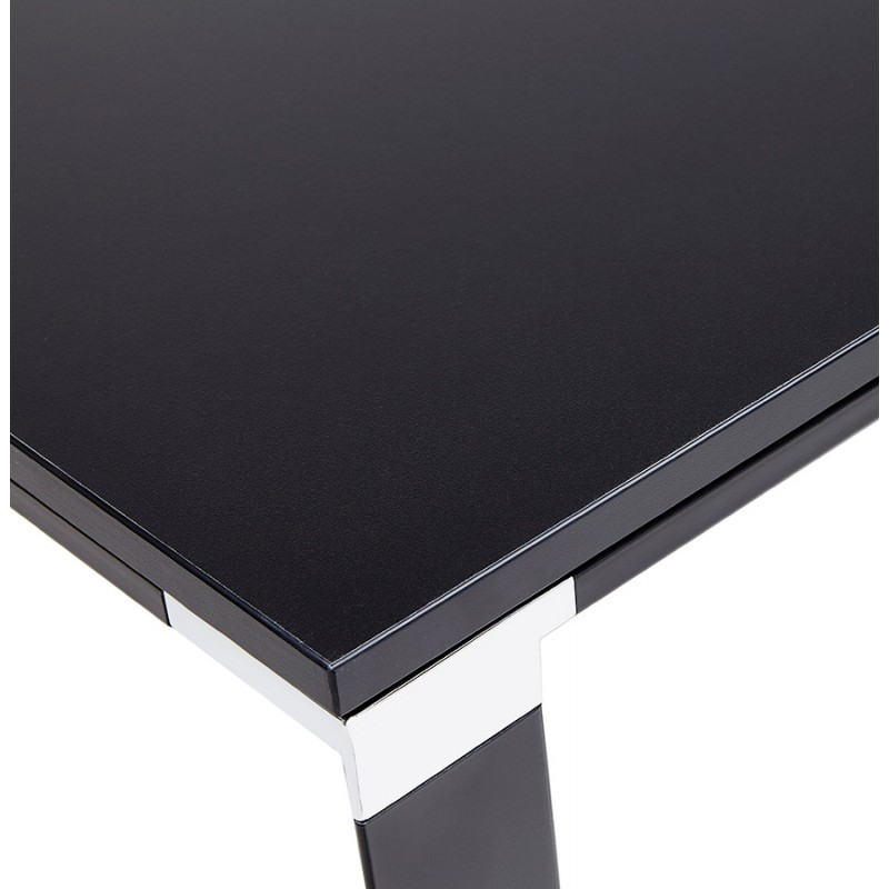 Bureau droit design en bois pieds noirs BOUNY (140x70 cm) (noir) - image 49649
