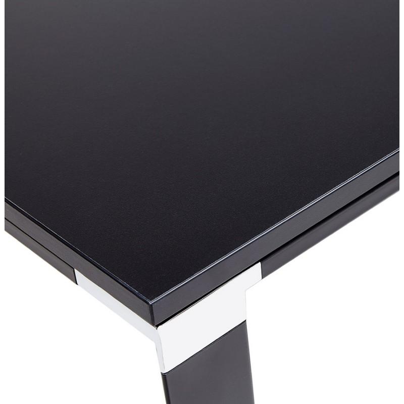 Holz-Design Schreibtisch aus holz schwarze Füße BOUNY (140x70 cm) (schwarz) - image 49649