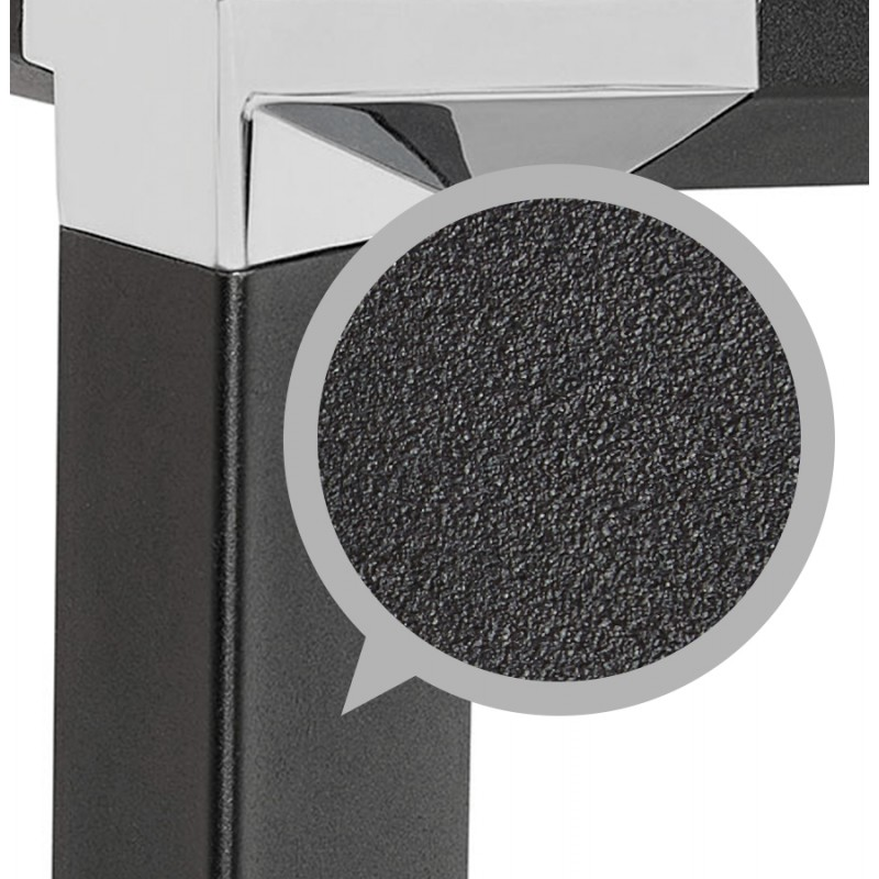 Right office design wooden black feet BOUNY (140x70 cm) (black) - image 49650