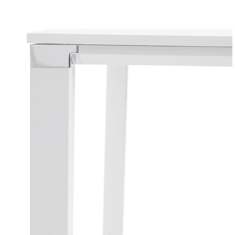 Bureau BENCH table de réunion moderne en bois pieds blanc RICARDO (160x160 cm) (blanc) - image 49659