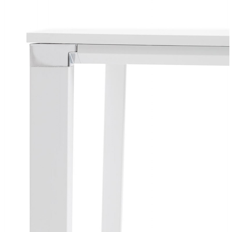 BENCH escritorio moderna mesa de reuniones pies blancos de madera RICARDO (160x160 cm) (blanco) - image 49659