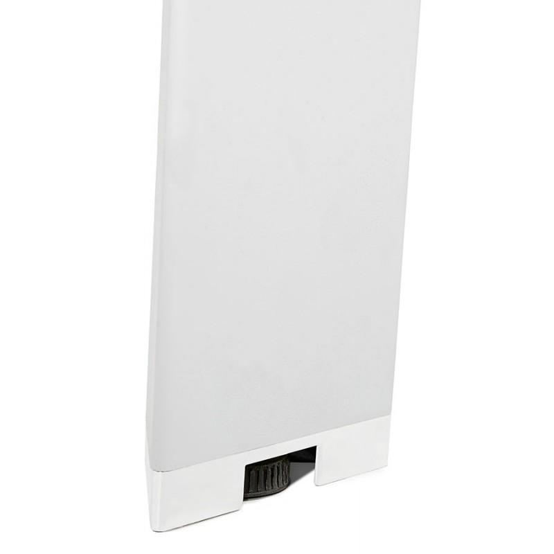Bureau BENCH table de réunion moderne en bois pieds blanc RICARDO (160x160 cm) (blanc) - image 49661