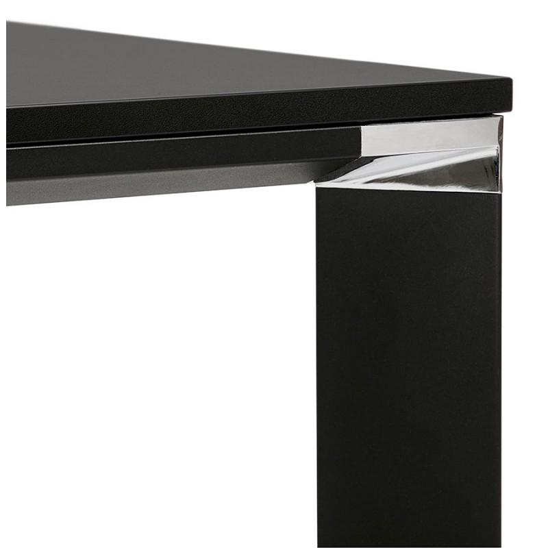 Bureau BENCH table de réunion moderne en bois pieds noirs RICARDO (160x160 cm) (noir) - image 49668