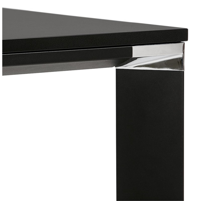 BENCH escritorio moderna mesa de reuniones pies negros de madera RICARDO (160x160 cm) (negro) - image 49668