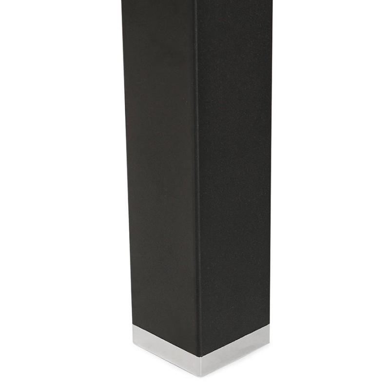 Bureau BENCH table de réunion moderne en bois pieds noirs RICARDO (160x160 cm) (noir) - image 49672