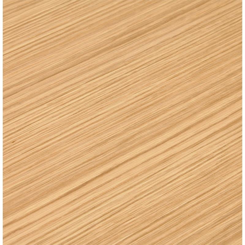 Bureau BENCH table de réunion moderne en bois pieds blancs RICARDO (140x140 cm) (naturel) - image 49679
