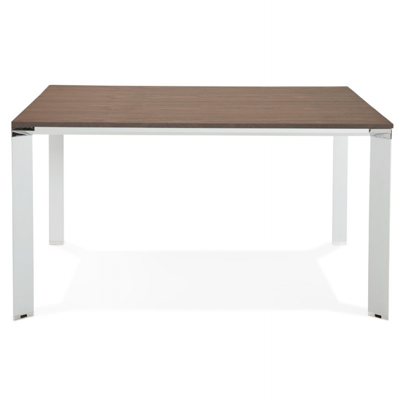 BENCH escritorio moderna mesa de reuniones pies blancos de madera RICARDO (140x140 cm) (ahogándose) - image 49683
