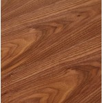 Bureau BENCH table de réunion moderne en bois pieds noirs RICARDO (140x140 cm) (noyer)