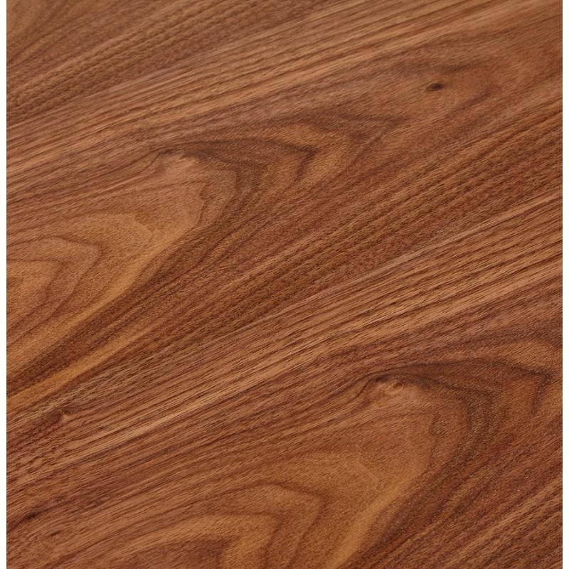 Bureau BENCH table de réunion moderne en bois pieds noirs RICARDO (140x140 cm) (noyer) - image 49695
