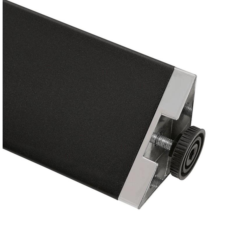 Bureau BENCH table de réunion moderne en bois pieds noirs RICARDO (140x140 cm) (noyer) - image 49698