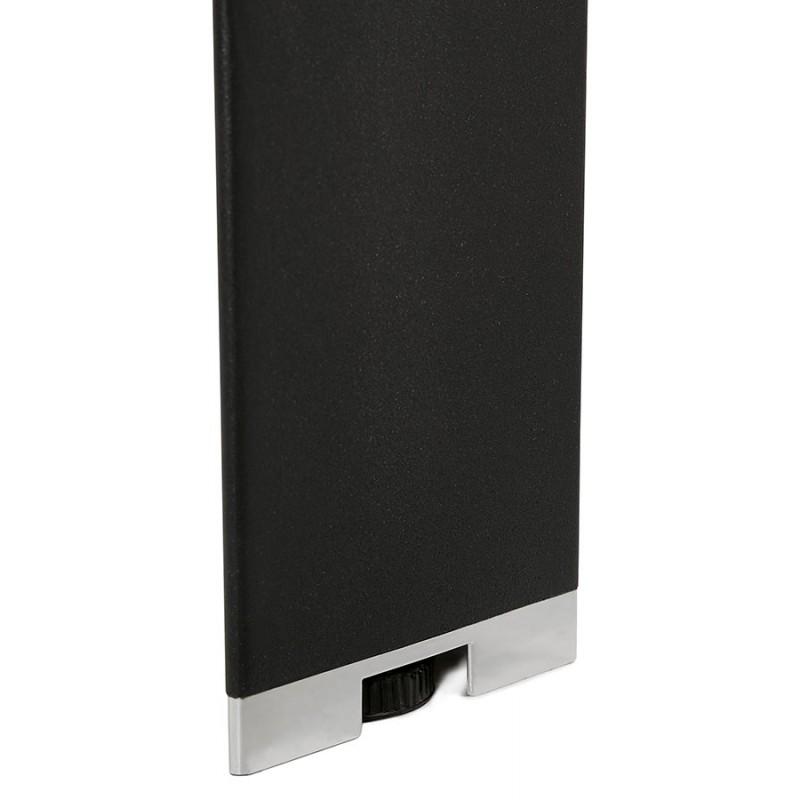 Bureau BENCH table de réunion moderne en bois pieds noirs RICARDO (160x160 cm) (noyer) - image 49718