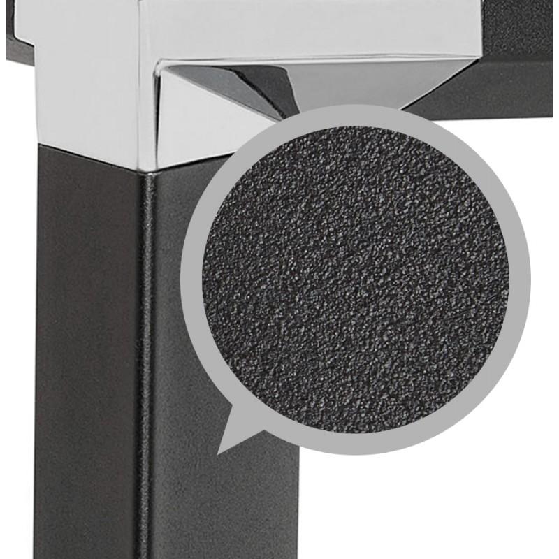 Bureau droit design en bois pieds noirs BOUNY (140x70 cm) (naturel) - image 49736