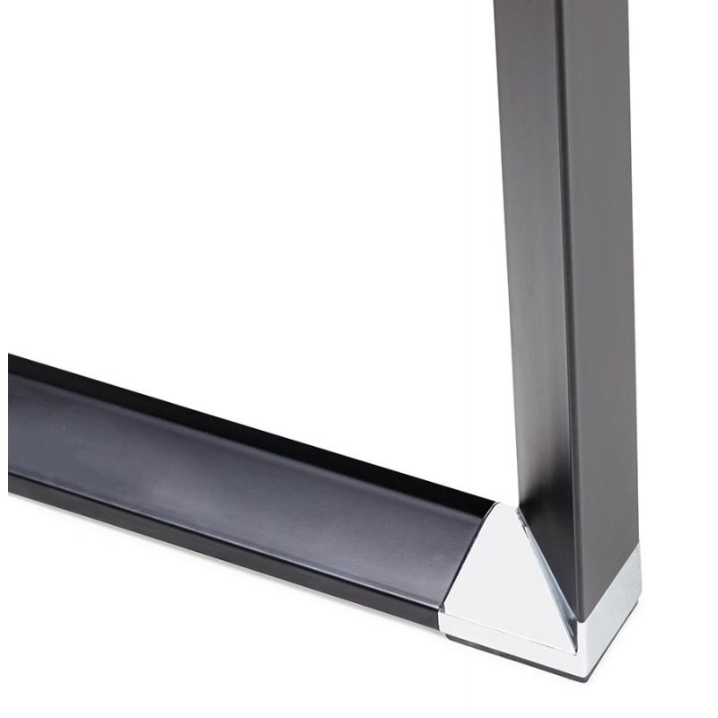 Bureau droit design en bois pieds noirs BOUNY (140x70 cm) (naturel) - image 49737