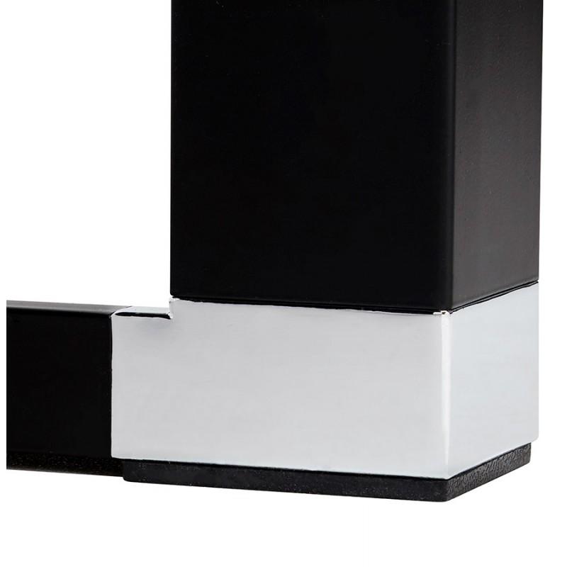 Bureau droit design en bois pieds noirs BOUNY (140x70 cm) (naturel) - image 49738