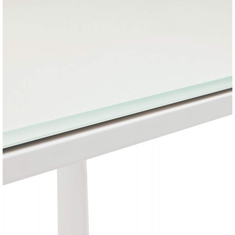 Right desk design glass soaked white feet BOIN (140x70 cm) (white) - image 49753