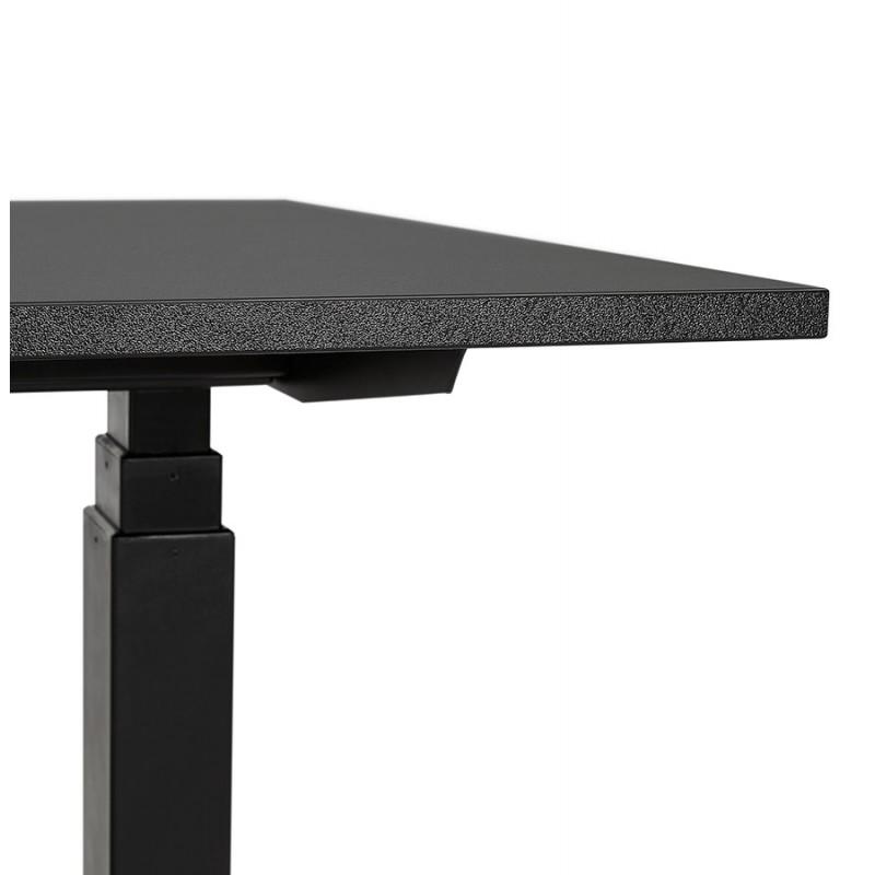 Bureau assis debout électrique en bois pieds noirs KESSY (140x70 cm) (noir) - image 49798
