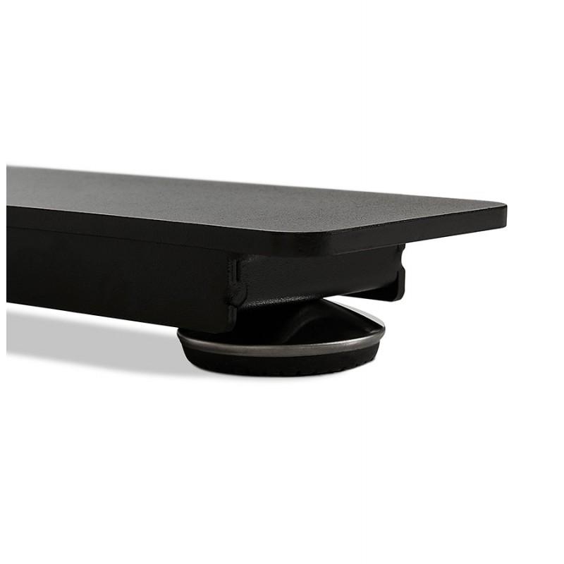Bureau assis debout électrique en bois pieds noirs KESSY (160x80 cm) (noir) - image 49825