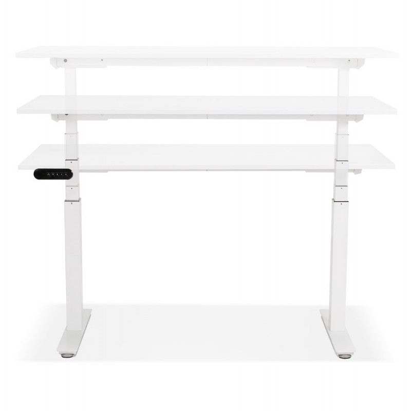 Seated standing electric wooden white feet KESSY (140x70 cm) (white) - image 49847