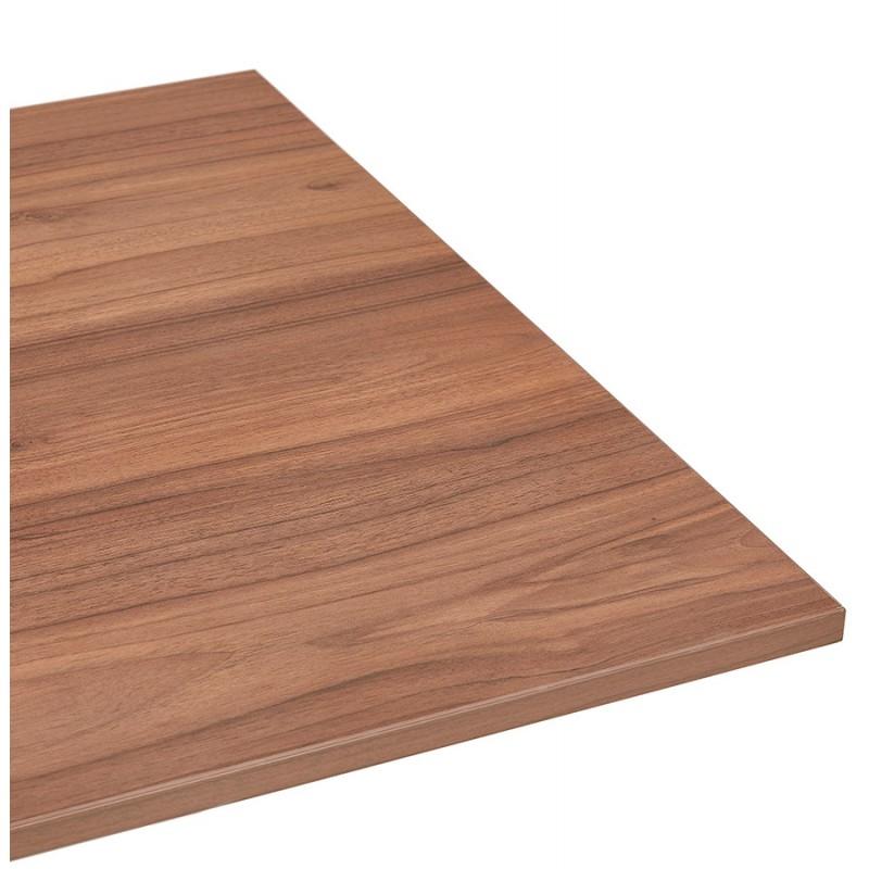 Bureau assis debout électrique en bois pieds blancs KESSY (160x80 cm) (finition noyer) - image 49886