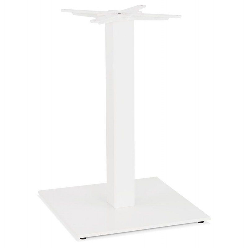 Mesa cuadrada de metal EMIE (50x50x73 cm) (blanco) - image 49914