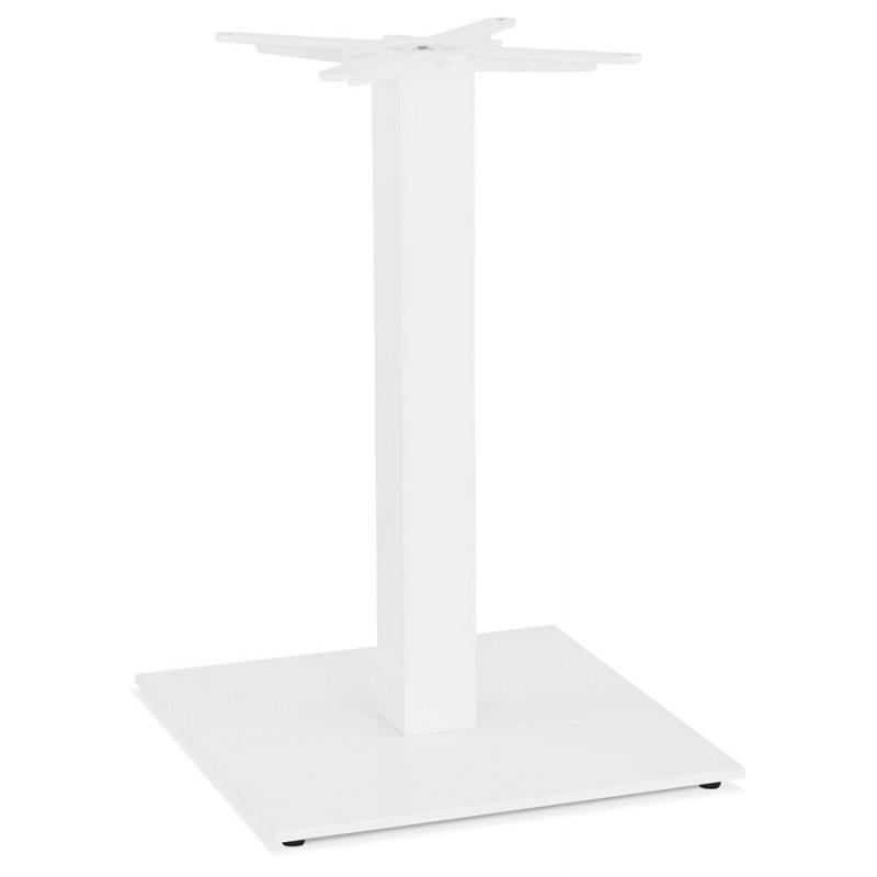 Pied de table carré en métal EMMIE (50x50x73 cm) (blanc)