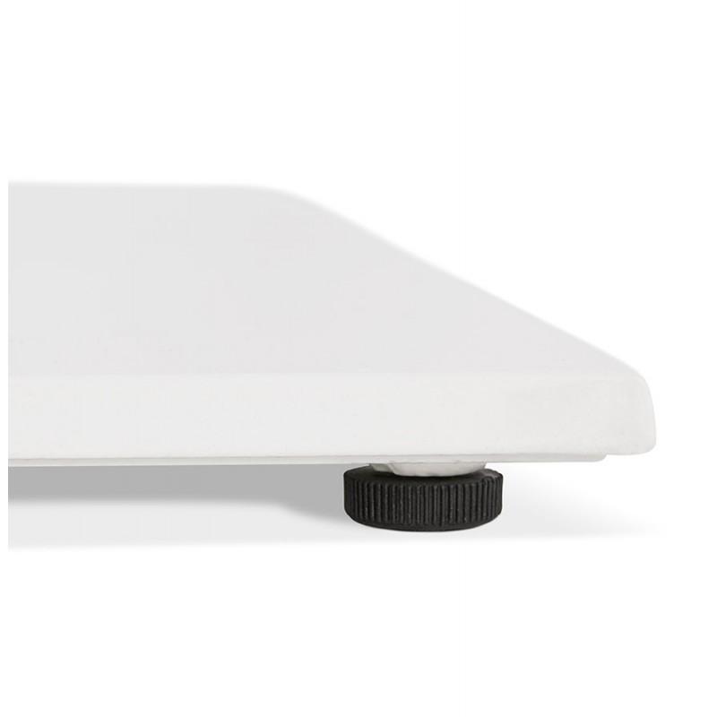 Piano quadrato in metallo EMIE (50x50x73 cm) (bianco) - image 49920