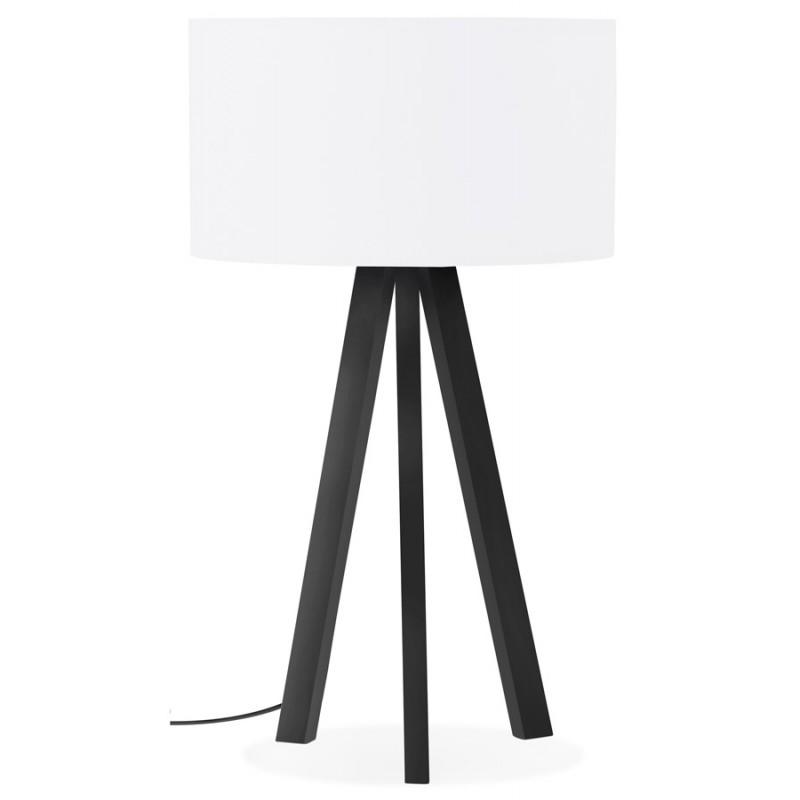 Lampe à poser design avec abat-jour sur trépied noir TRANI MINI (blanc) - image 49953